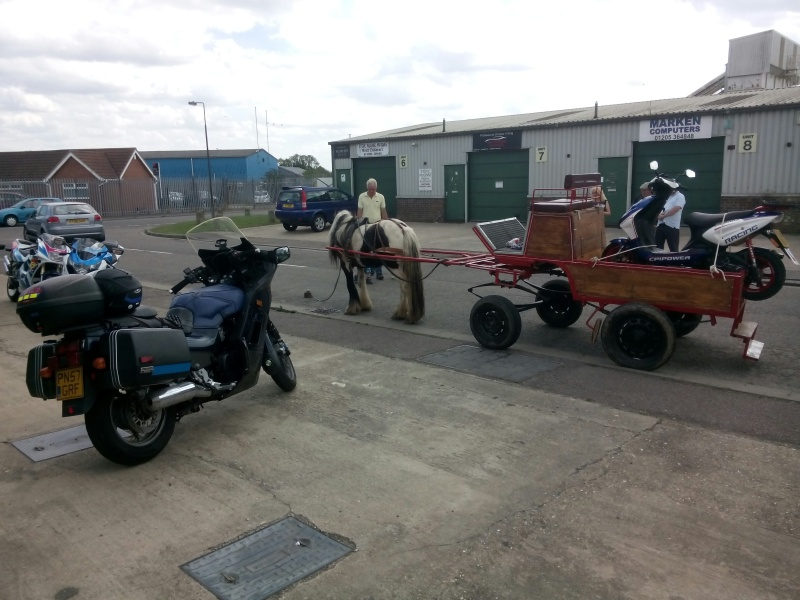 Select this image to see a larger version. 20150808 - Unusual 1HP motorcycle transport